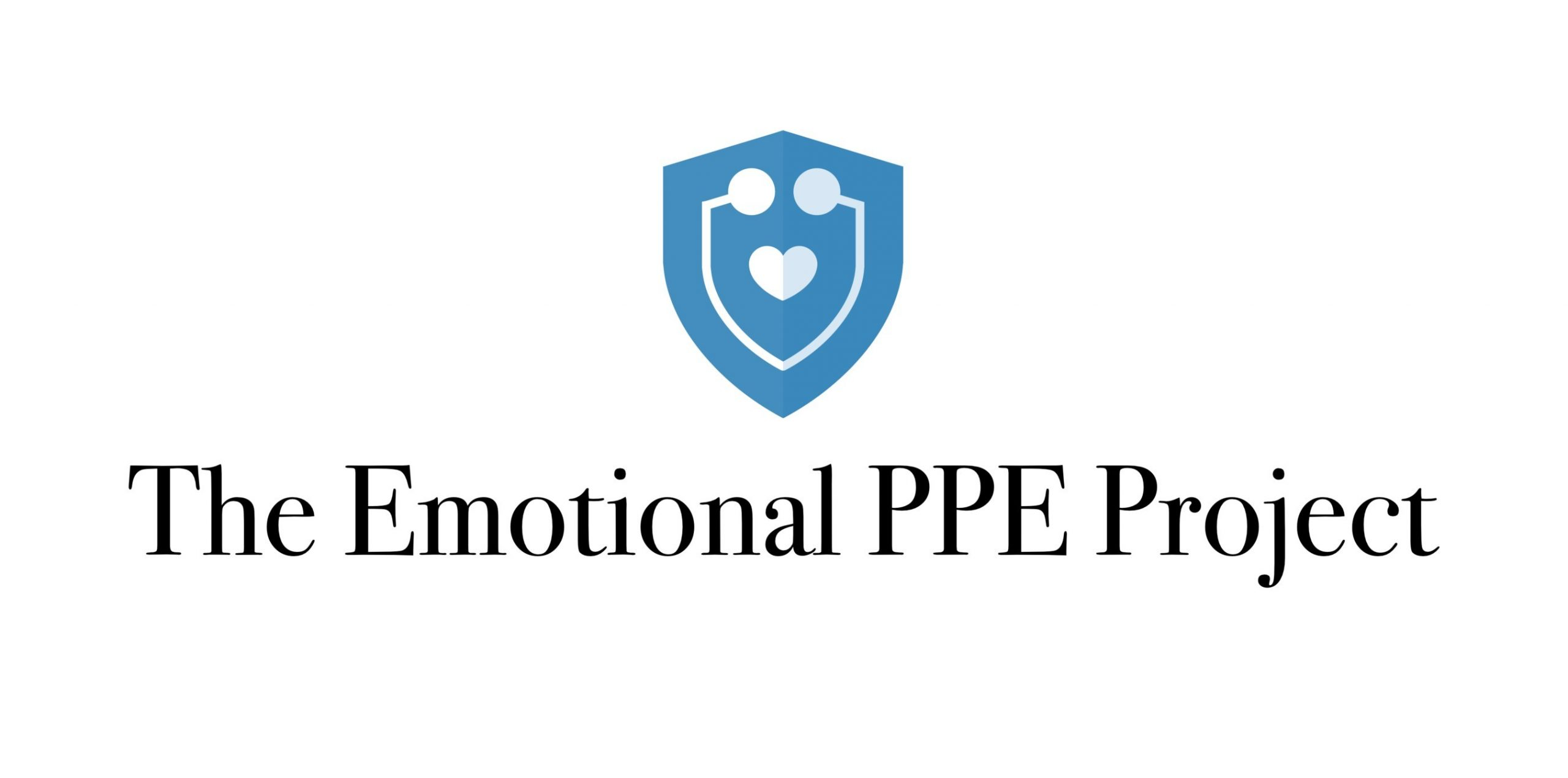 """White square with the text """"The Emotional PPE Project"""" in the center."""